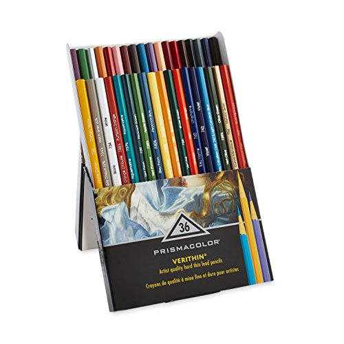 Prismacolor Verithin Colored Pencils, Set of 36 Assorted Colors (2428)