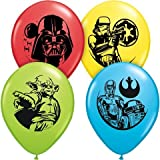Star Wars Assorted Color 11 Latex Balloons - Package of 12
