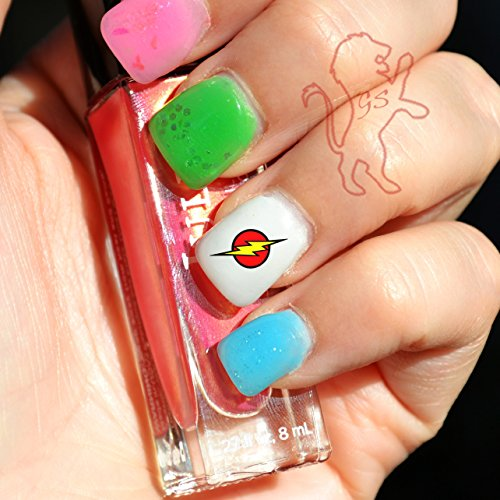 20 Water Slide Nail Decals The Flash Symbol