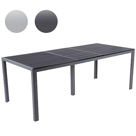 Miadomodo - Mesa de jardín 200 x 90 x 72 cm gris oscuro