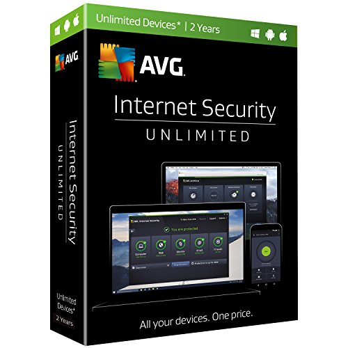 AVG  Internet Security, Unlimited Devices, 2 Years (Avg Antivirus Software compare prices)