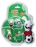 echange, troc Figurines Lapins crétins - Football Coupe du monde (France-UK-arbitre-Espagne)