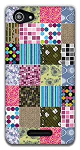 The Racoon Grip printed designer hard back mobile phone case cover for Sony Xperia E3. (Cosy Quilt)