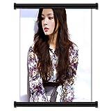 Zhang Zilin Sexy Hot Fashion Model Fabric Wall Scroll Poster (32