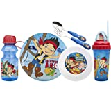 Zak Designs Disney 6-Piece Kids Mealtime Set, Jake and The Never Land Pirates
