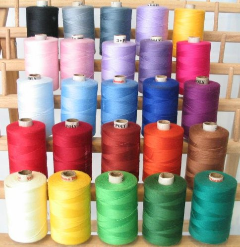 New Threadsrus 25 Large Spools of 3-PLY Polyester threads - Regular Colors