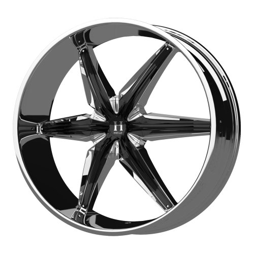 "Helo HE866 Triple Chrome Plated Wheel With Gloss Black Accents (22x9.5""/5x114.3, 127mm, +35mm offset)"