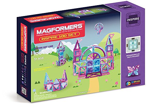 맥포머스 인스파이어 100피스 세트 Magformers Inspire 100 Piece Set Playset, Multi-Color
