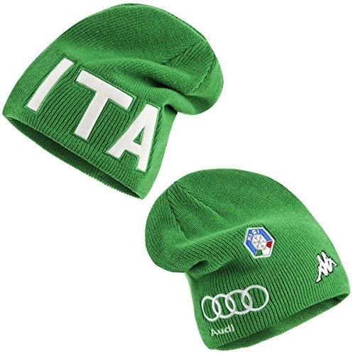 Kappa 6CENTO Spike Fisi, Cappello Unisex Nazionale Italiana Sci (Verde, 05)