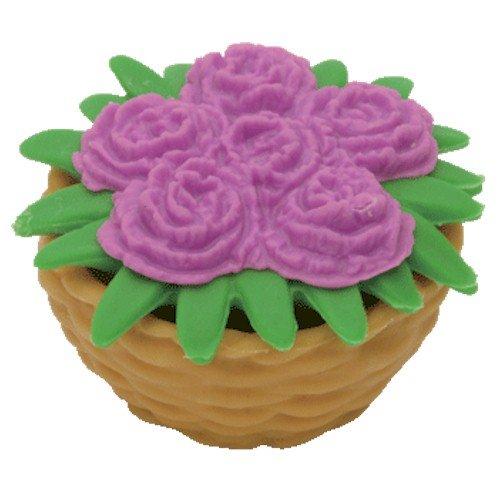 Ty Beanie Eraserz - Flower Basket Violet