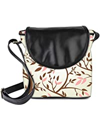 Snoogg Vector Seamless Pattern With Spring Branches Womens Sling Bag Small Size Tote Bag
