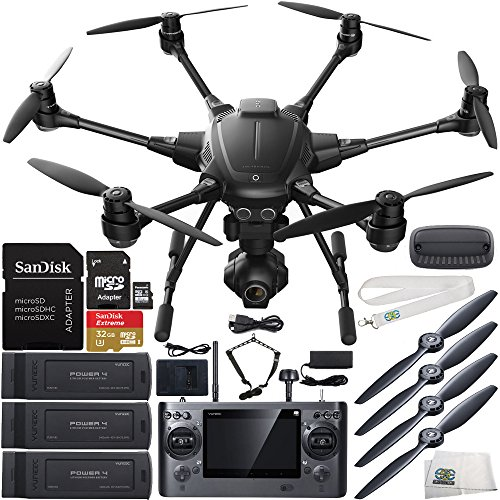 YUNEEC Typhoon H Hexacopter with GCO3+ 4K Camera & Manufacturer Accessories + 2 Extra 5400mAh 4S LiPo Flight Batteries +...