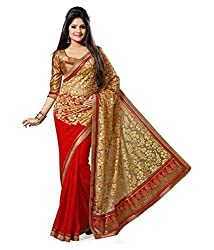 My online Shoppy Georgette Saree (My online Shoppy_79_Multi-Coloured)