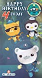 Octonauts Age 4 Badge Birthday Card