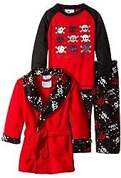 Baby Bunz Baby Boys' 3 Piece Skulls Robe and Pajama Set
