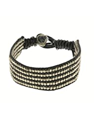 Black And White Wrist Bracelet Unisex Fashion Jewelry Indian Artisan Crafted (MN-srbrclt009)
