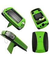 Vert Portefeuille Cuir Étui Coque avec Support pour Leappad 2 - Flip Case Cover + 2 Membrane Films de protection d'écran