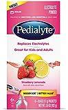 Pedialyte Large Powder Packs, Strawberry Lemonade, .6 oz, 6 Count