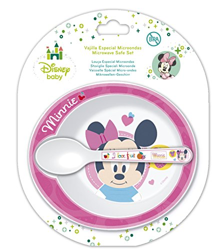 Disney Minnie Mouse Microwavable Safe Bowl and Spoon Set