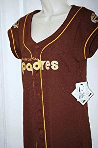 Ladies Padres Cooperstown Collection Brown Baseball Jersey Dress by G-III Sports