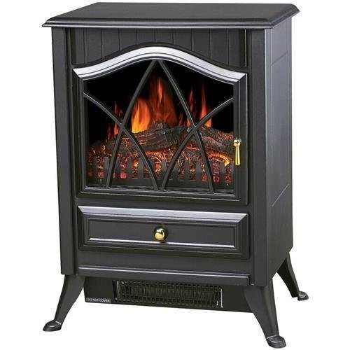 World Marketing Comfort Glow Es4215 The Ashton Compact Electric Stove - 1.50 Kw - Black