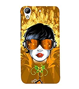 Girl with Head Phones 3D Hard Polycarbonate Designer Back Case Cover for HTC Desire 626 :: HTC Desire 626 Dual SIM :: HTC Desire 626S :: HTC Desire 626 USA :: HTC Desire 626G+ :: HTC Desire 626G Plus