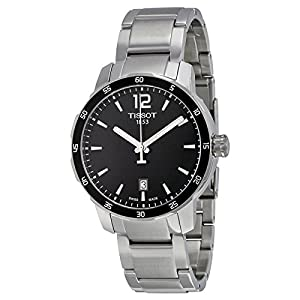 Tissot Quickster Black Dial Stainless Steel Mens Watch T0954101105700