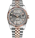 Rolex Datejust 36 Steel Rose Gold Watch Steel Diamond Dial 116231