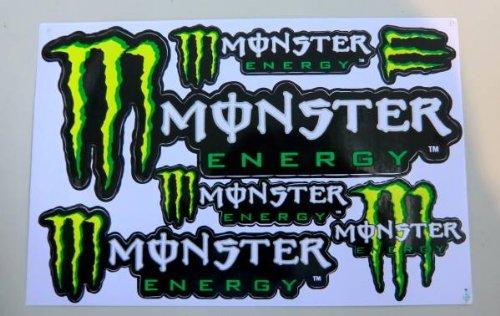 MONSTER ENERGY モンスター ステッカー シート グリーン 017