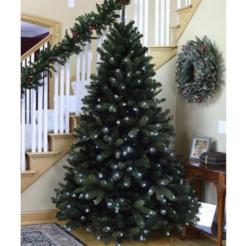 6FT Pre Lit 350 Led PE realistic Christmas Tree by Denelli Italia