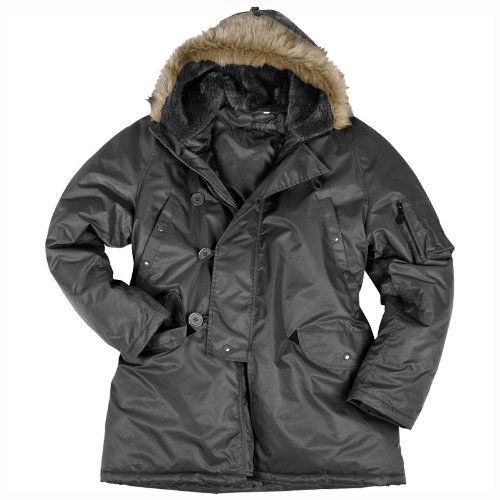 Air Forces N3B N-3B Snorkel Parka Mens Jacket Black
