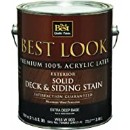 - W55W00803-16 Best Look Exterior Latex Solid Color Deck And Siding Stain