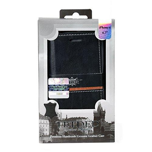 藤本電業株式会社 TETDED Premium 牛本革 ブックレザーケース for Apple iPhone 6 4.7 – Mellac II Emboss: Prestige BlackPN13 TET6-DJ32