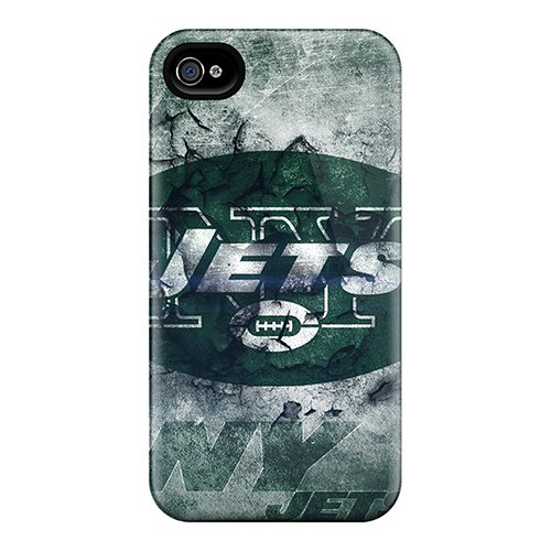 Flexible Tpu Back Case Cover For Iphone 4/4S - New York Jets