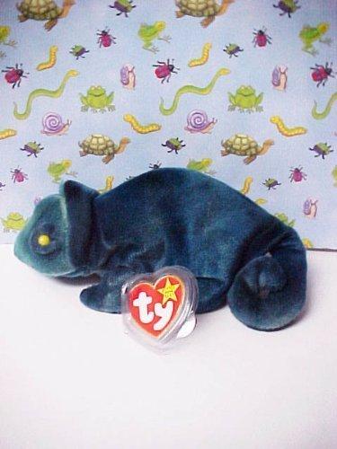 Ty Beanie Babies Rainbow (Blue Tie-Dye) Chameleon by Ty - 1
