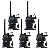 BaoFeng LYSB00E4FO2TW-SPRTSEQIP Dual-Band Two Way Radio with Programming Cable (Support WIN7,64 Bit)-5 Pack