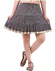 Sunshine Enterprises Women's Cotton Wrap Skirt (Black) - B01HELQ5KG