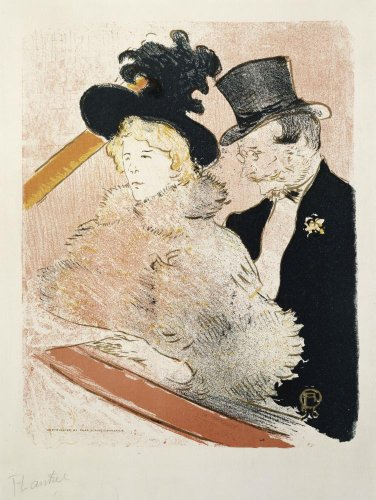 At The Concert By Henri De Toulouse-Lautrec Wall Mural - 42 Inches H X 32 Inches W - Peel And Stick Removable Graphic front-812683
