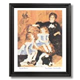 Renoir French Victorian Girl Dog Wall Home Decor Wall Picture Black Framed Art Print