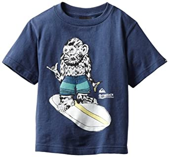 Quiksilver Little Boys' Simple Thing Kids Tee, Navy, 2T