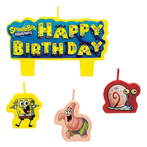 1 X SpongeBob Molded Cake Candles - 4/Pkg. - 1