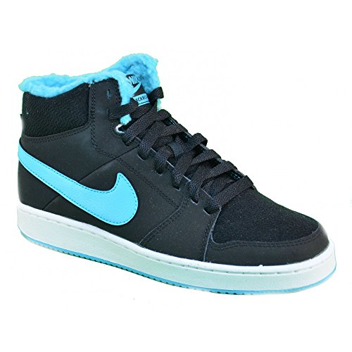 Nike - Nike Backboard 2 Mid Winter (GS) Scarpe Donna Nere Pelle 616647