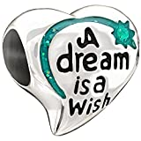 Authentic Chamilia Disney Green Enamel A Dream is a Wish Charm - 2020-0693
