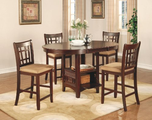 coaster-lavon-5-piece-counter-table-and-chair-set-in-cherry