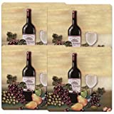 Reston Lloyd Gas Burner Covers Set of 4 Barnyard Wine and Vines