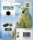 Epson C13T26214010 - 26XL - Black - original - ink cartridge - for Expression Photo XP-760, Expression Premium XP-510, 520, 615, 620, 625, 710, 720, 810, 820