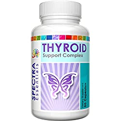 "Best Thyroid Support Helps You ""Feel Like You Again."" Boost Metabolism, Increase Energy, and Improve Focus. Herbal Supplement With Vitamin B12, Iodine, Kelp, and Cayenne by Spectra Essentials."