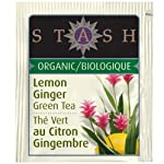 10 Pack Organic Lemon Ginger Green Tea