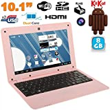 Mini PC Android 4.4 Netbook Ultra portable 10 pouces WiFi 8Go Rose
