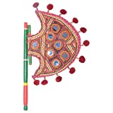 Rajasthan Emporium Mirror Work Royal Hand Fan